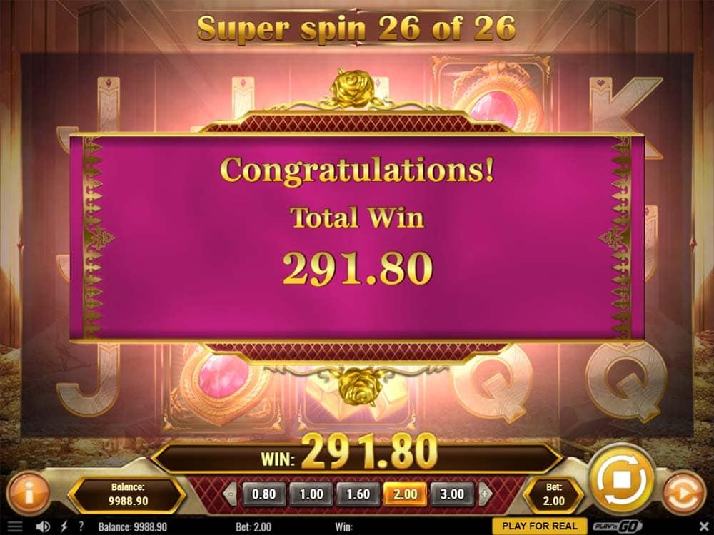 Gold King Slot - Bonus End