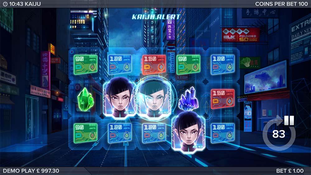 Kaiju Slot - Bonus Trigger