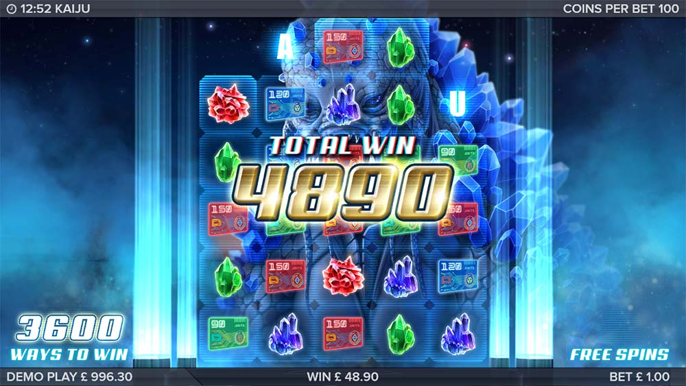 Kaiju Slot - Bonus End