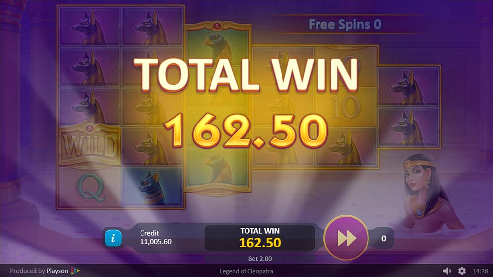 Legend of Cleopatra Slot - Bonus End