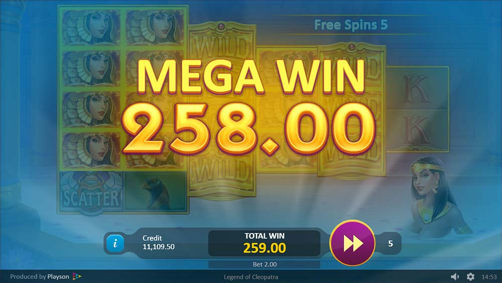 Legend of Cleopatra Slot - Mega Win