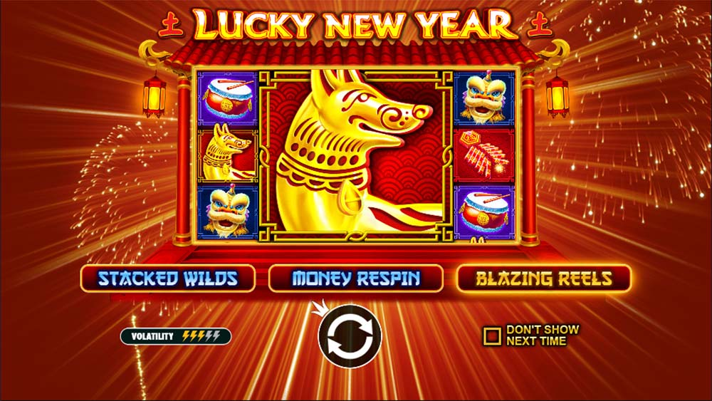 Lucky New Year Slot - Intro Screen