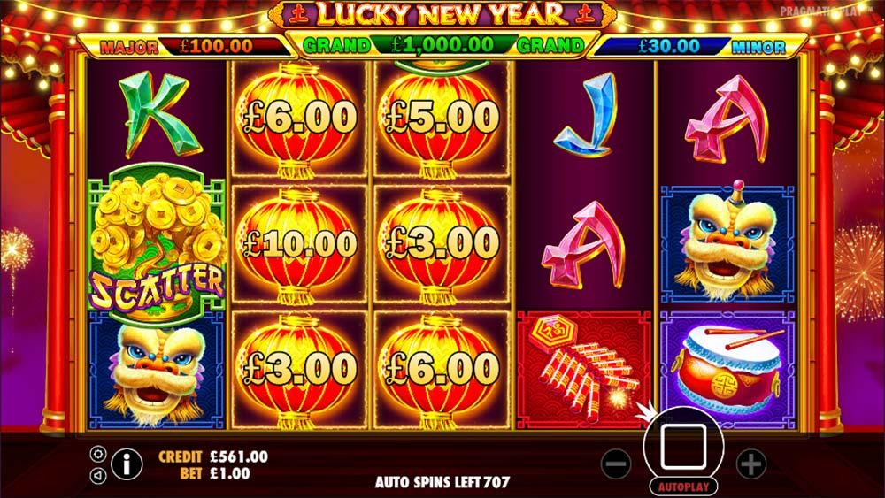 Lucky New Year Slot - Lantern Bonus Trigger