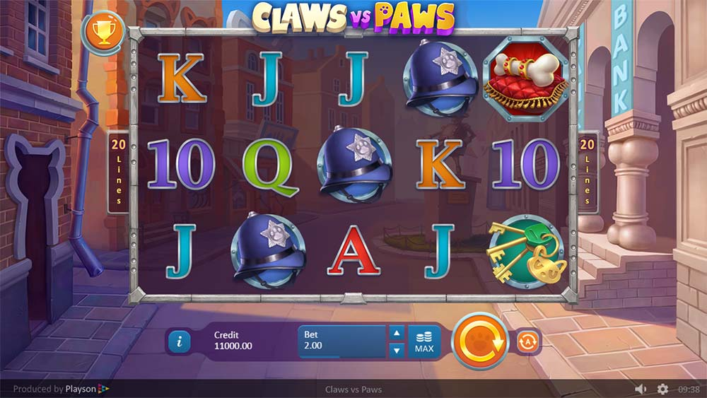 Claws vs Paws Slot - Base Game