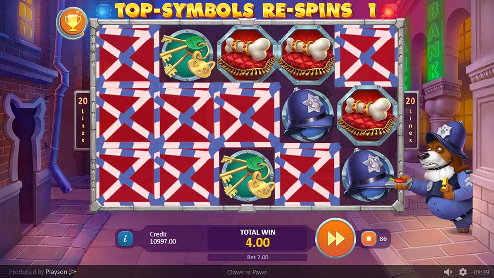 Claws vs Paws Slot - Symbol Re-Spin