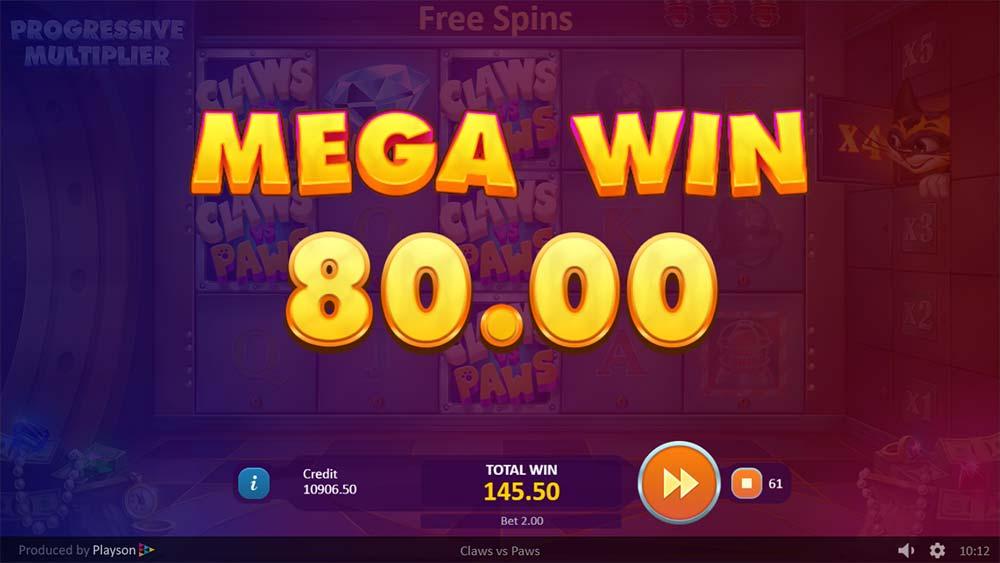 Claws vs Paws Slot - Mega Win