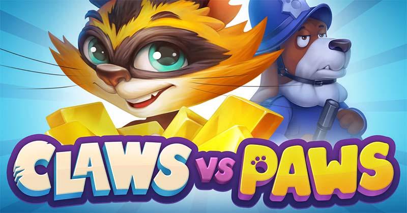 Claws vs Paws Slot Logo
