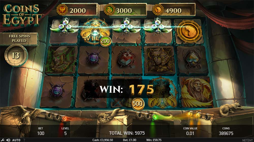 Coins of Egypt Slot - Free Spins Round