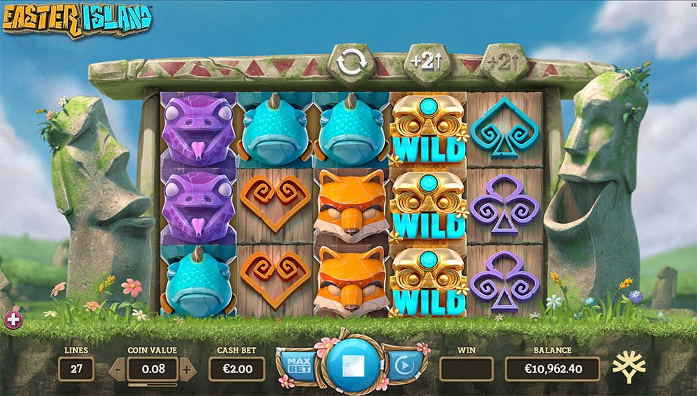 Easter Island Slot - Re-Spin Triggered
