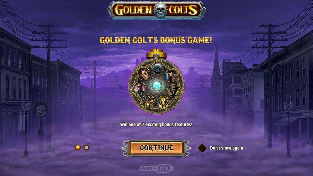 Golden Colts Slot - Intro Screen