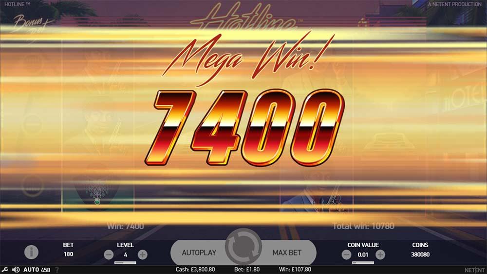Hotline Slot - Mega Win