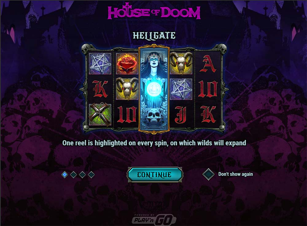 House of Doom Slot - Intro Screen