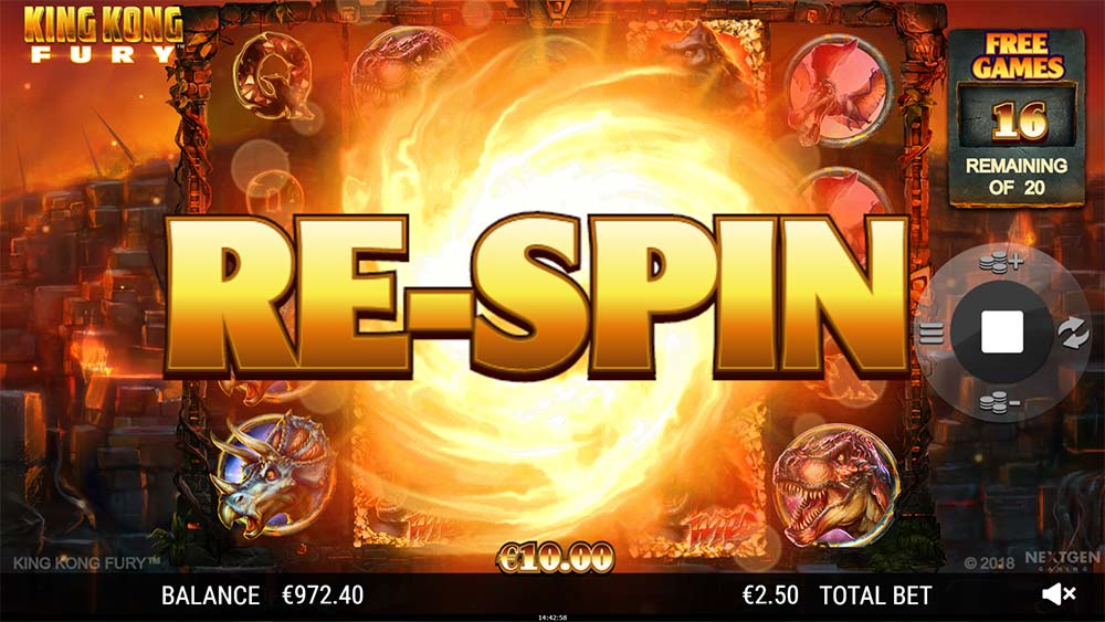 King Kong Fury - Re-Spin Feature