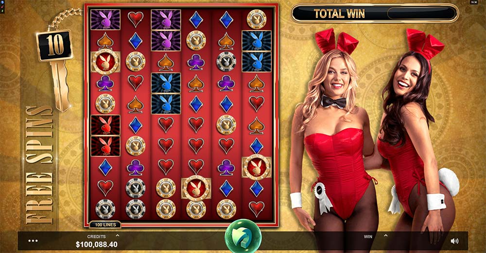Playboy Gold Slot - Free Spins
