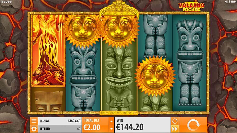Volcano Riches Slot - Bonus Trigger