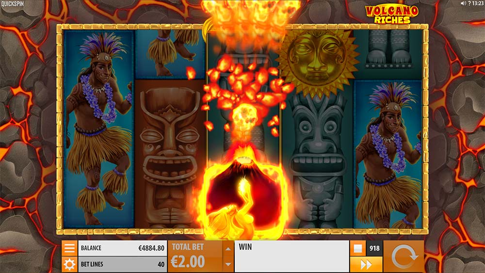 Volcano Riches Slot - Erupting Wilds Feature