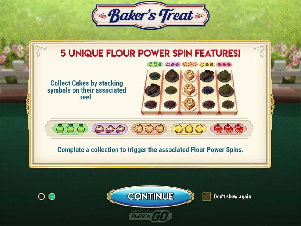 Baker's Treat Slot - Intro Screen