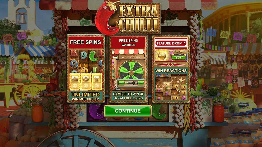 Extra Chilli Slot - Intro Screen