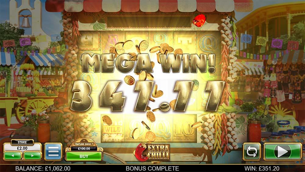 Extra Chilli Slot - Mega Win Bonus End