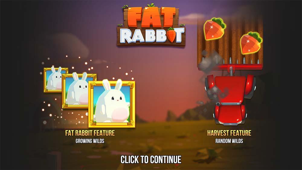 Fat Rabbit Slot - Intro Screen