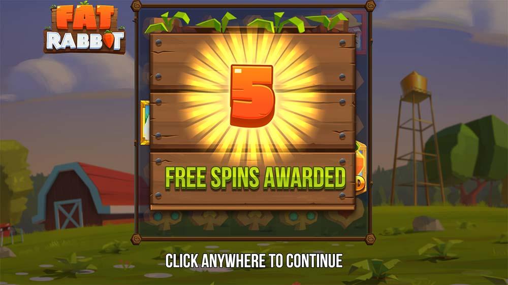 Fat Rabbit Slot - Free Spins Awarded