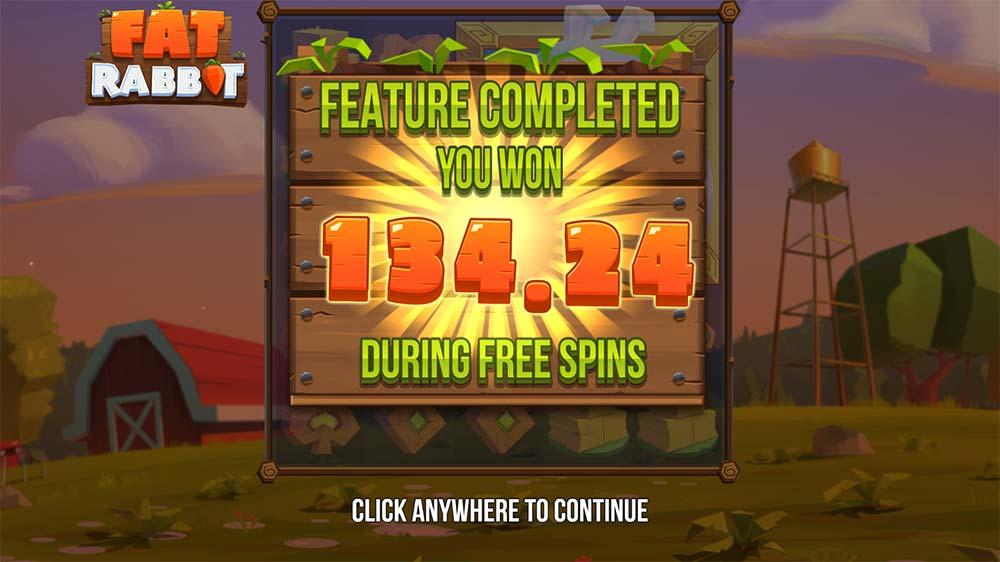 Fat Rabbit Slot - Bonus End Result