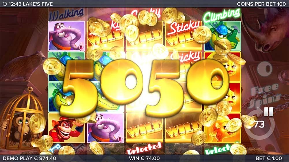 Lake's Five Slot - Big Win