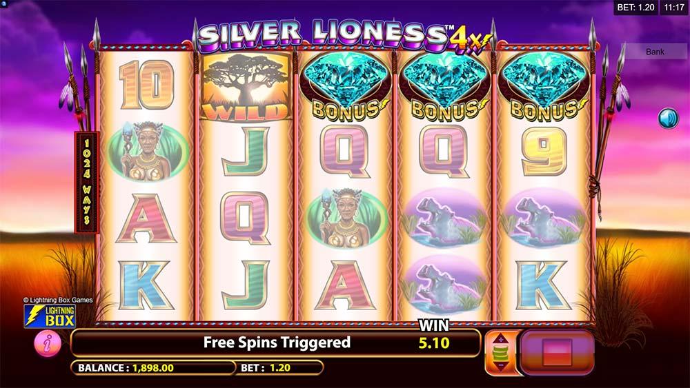 Silver Lioness 4x Slot - Bonus Trigger