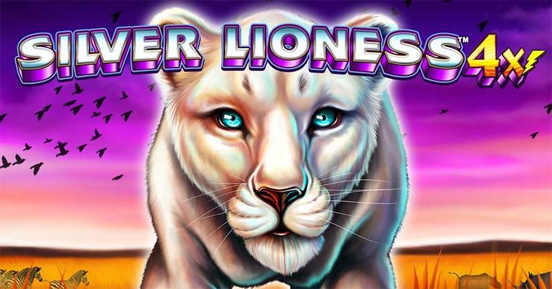 Silver Lioness 4x Slot Logo