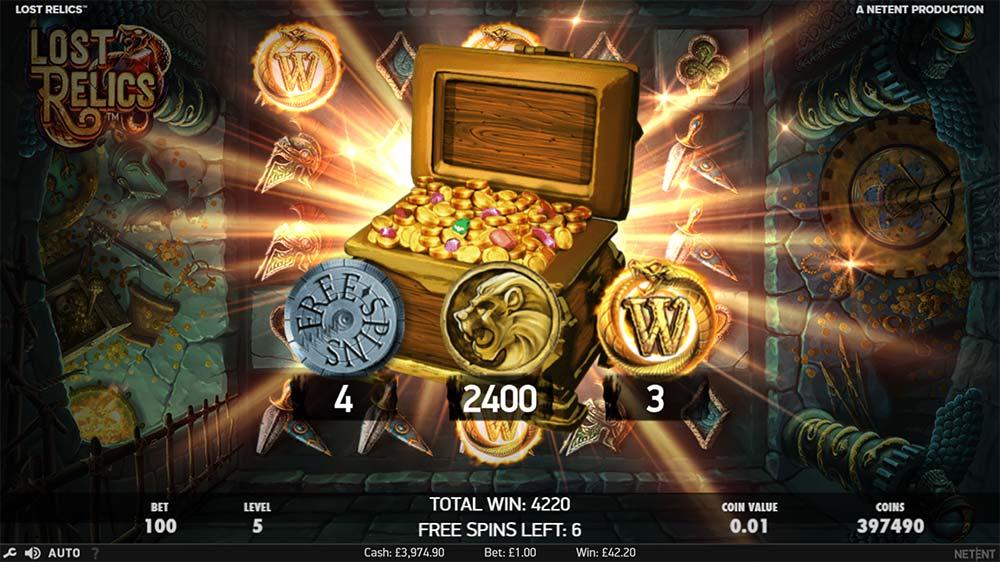 Lost Relics Slot - Treasure Chest Found
