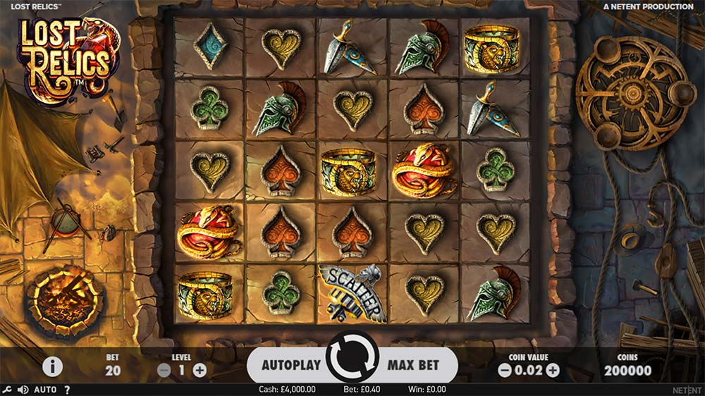 Lost Relics Slot - Base Game
