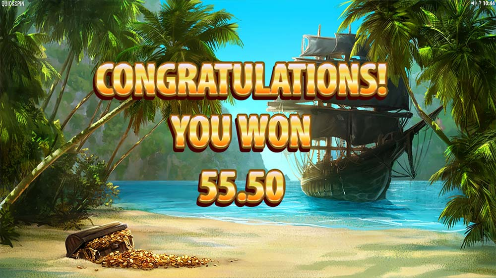 Pirate's Charm Slot - Bonus End