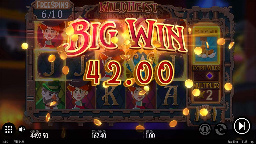 Wild Heist At Peacock Manor Slot - Big Win
