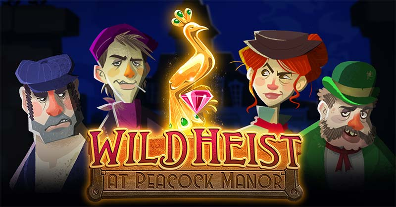 Wild Heist At Peacock Manor Slot Logo