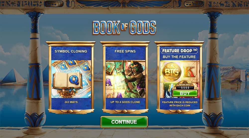 Book of Gods Slot- Intro Screen