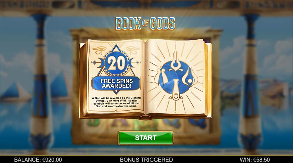 Book of Gods Slot- Bonus Trigger