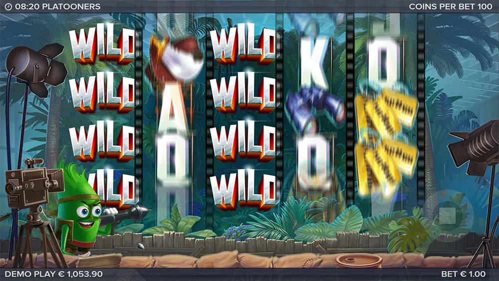 Platooners Slot - Added Wild Reels