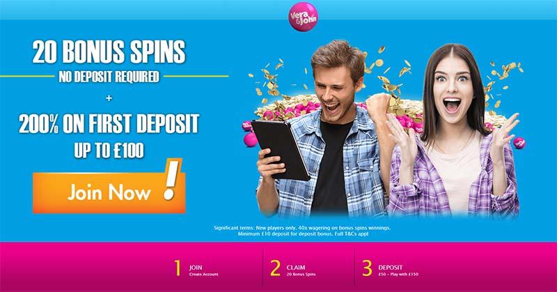 Vera & John Casino 20 Bonus Spins