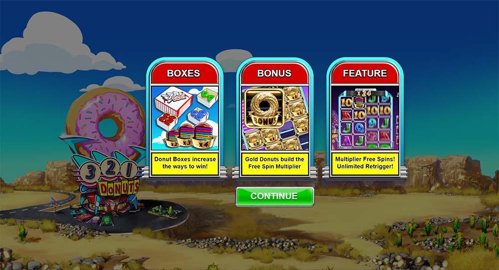 Donuts Slot - Intro Screen