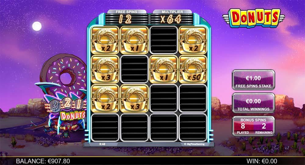 Donuts Slot - Bonus Multipliers