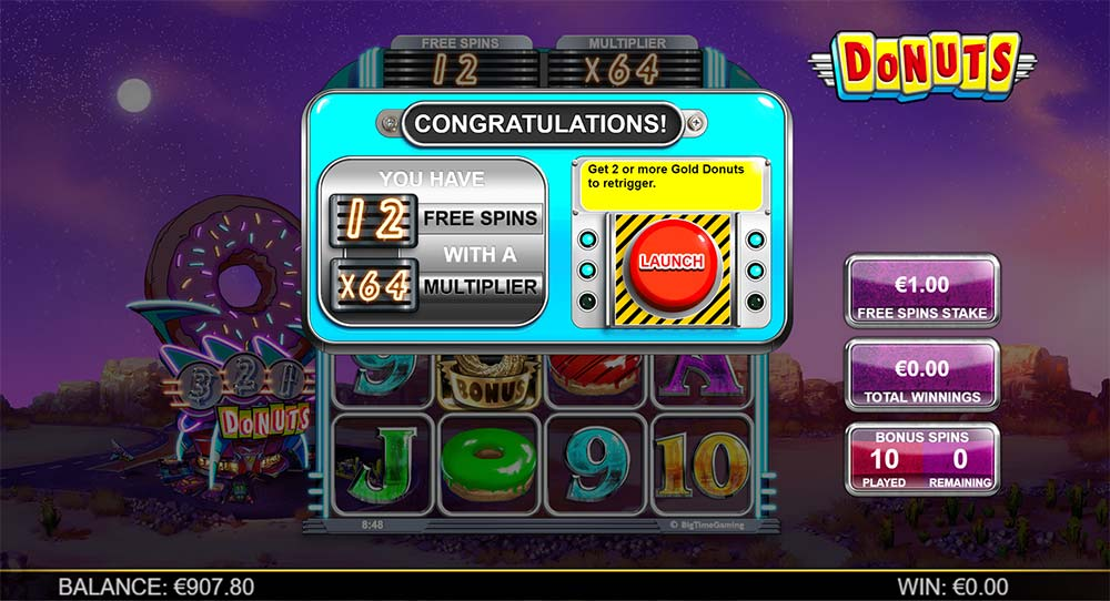 Donuts Slot - Free Spins Launch