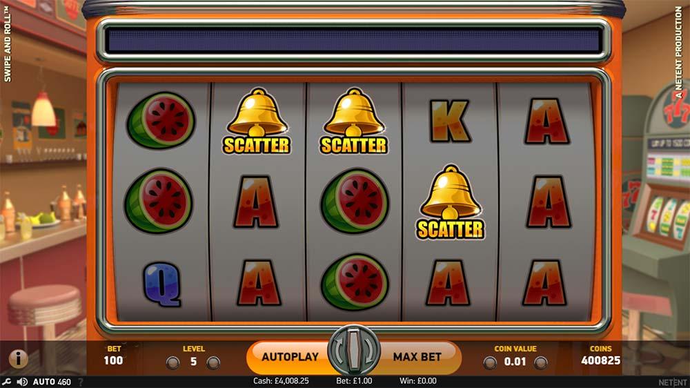 Swipe and Roll Slot - Bonus Trigger