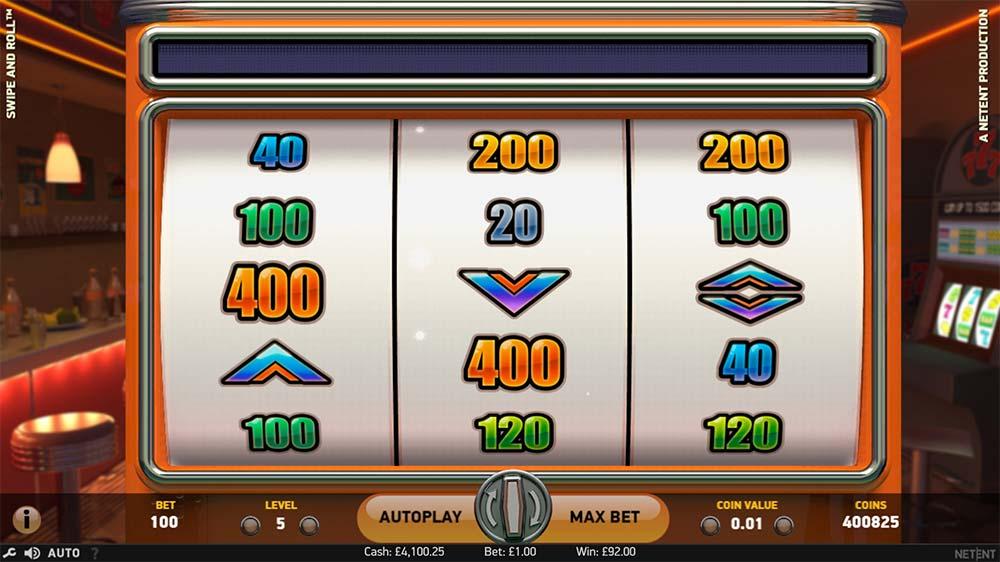 Swipe and Roll Slot - Bonus Game