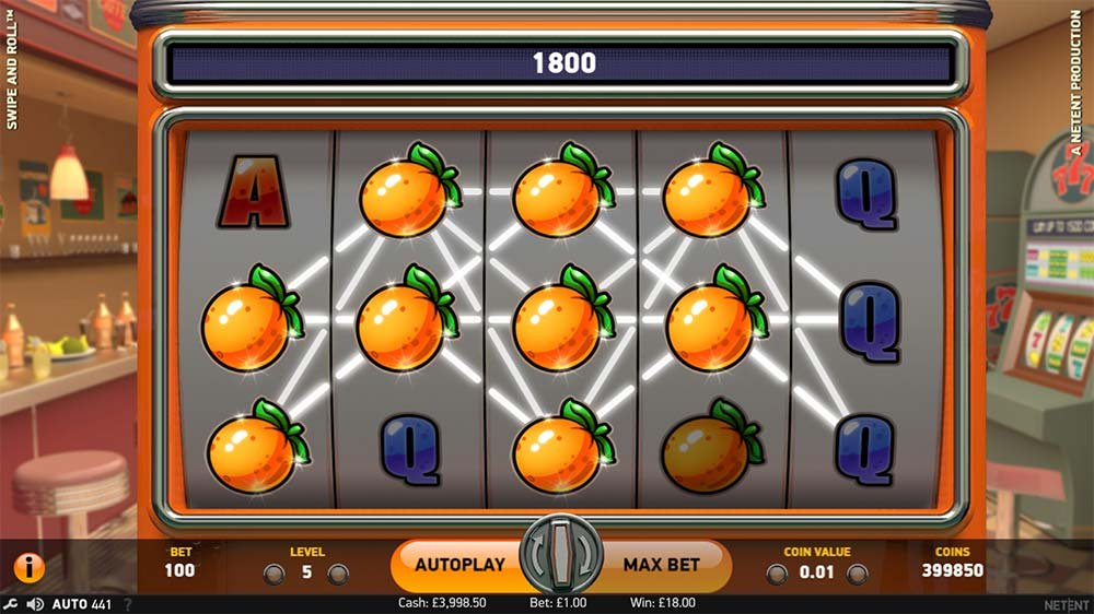 Swipe and Roll Slot - Stacked Symbol Win