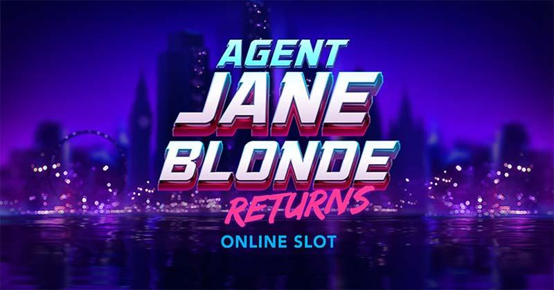 Agent Jane Blonde Returns Slot Logo