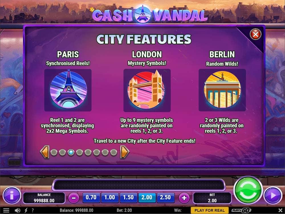Cash Vandal Slot - City Special Features