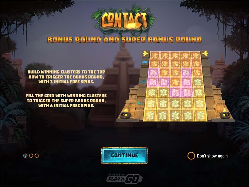 Contact Slot - Intro Screen