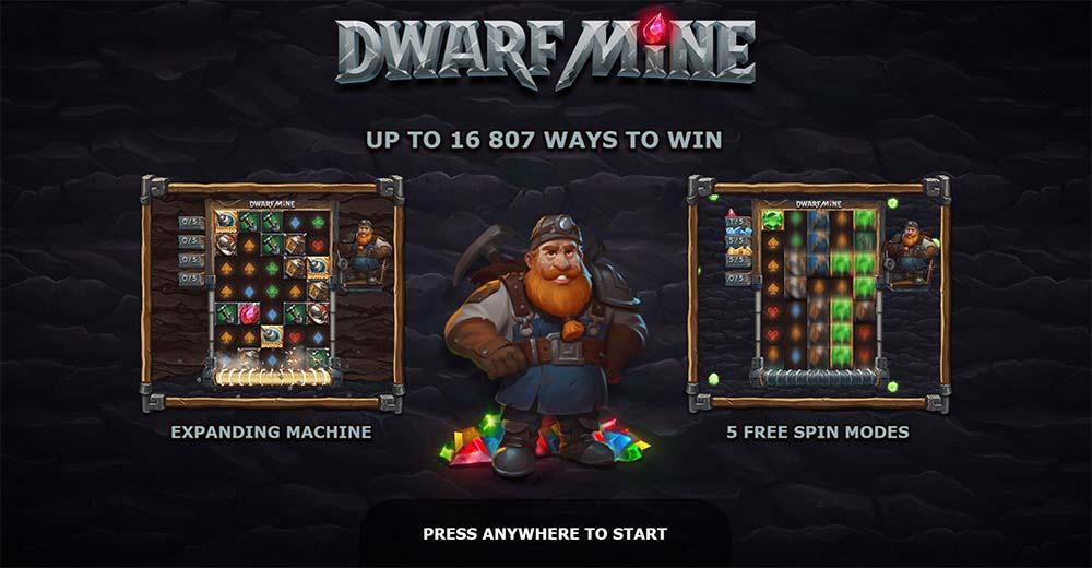 Dwarf Mine Slot - Intro Screen