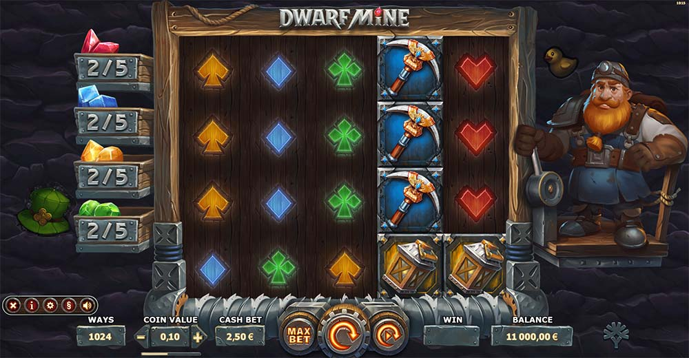 Dwarf Mine Slot - Base Gameplay