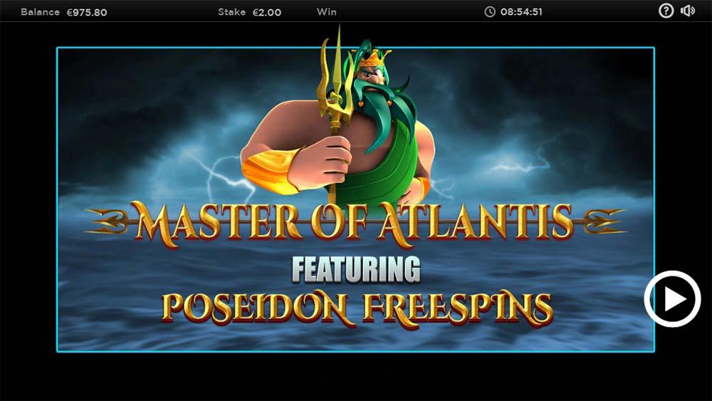 Master of Atlantis Slot - Intro Screen